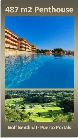 487 m2 Penthouse Traum am Golf de Bendinat Puerto Portals Mallorca zu verkaufen