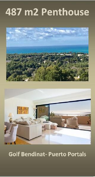 Haus auf dem Haus! 487 m2 Penthouse Traum am Golf de Bendinat Puerto Portals Mallorca zu verkaufen